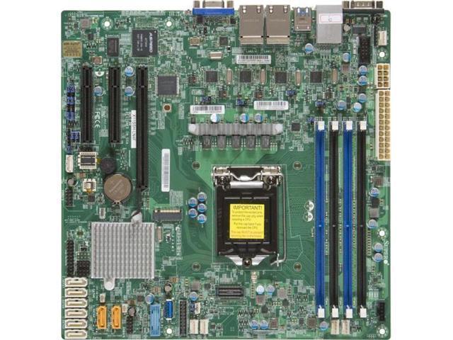 Intel Chipset Socket H4 LGA-1151 Retail Pack Supermicro X11SSH-LN4F Server Motherboard