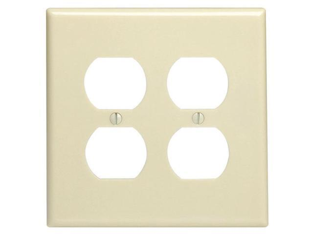Stainless Steel Standard P /& S SS701 2-Gang Power Outlet Wall Plate