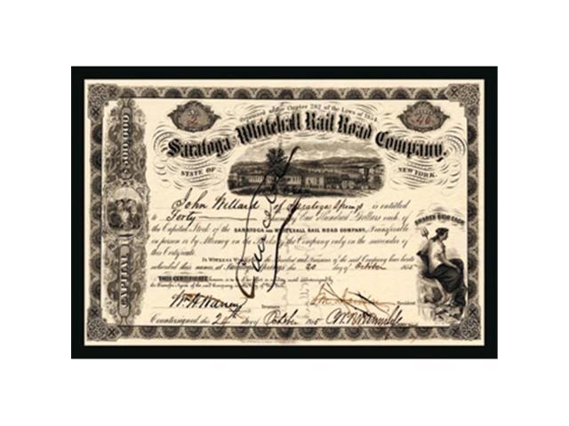 Buy Enlarge 0-587-17511-7P12x18 Saratoga and Whitehall Railroad Company-  Paper Size P12x18 - Newegg com