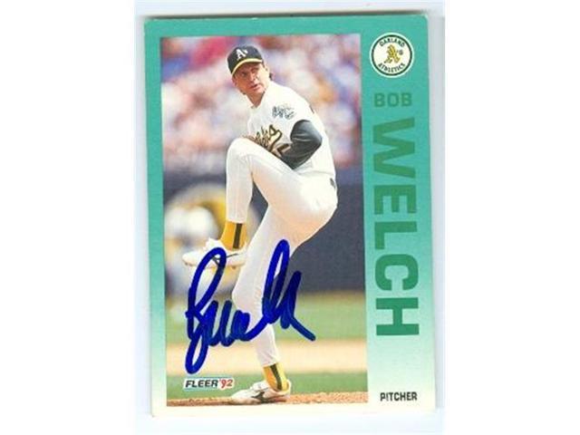 Autograph 121101 Oakland Athletics 1992 Fleer No 271 Bob Welch Autographed Baseball Card Neweggcom