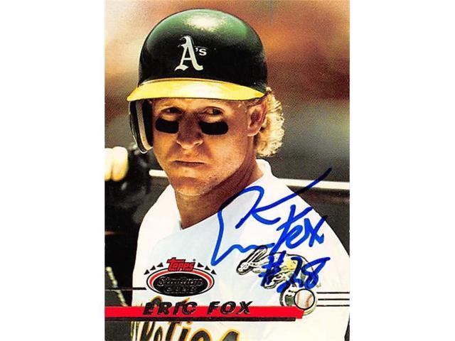 Autograph 222836 Oakland Athletics Ft 1993 Topps Stadium Club No 131 Eric Fox Autographed Baseball Card Neweggcom