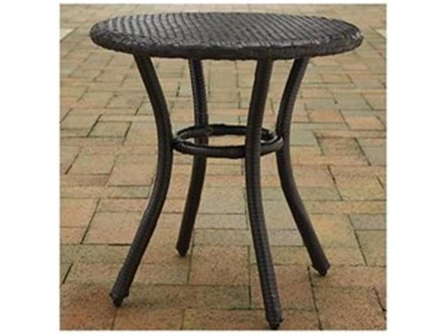 Modern Marketing Concepts Co7217 Br Palm Harbor Outdoor Wicker Round Side Table Brown