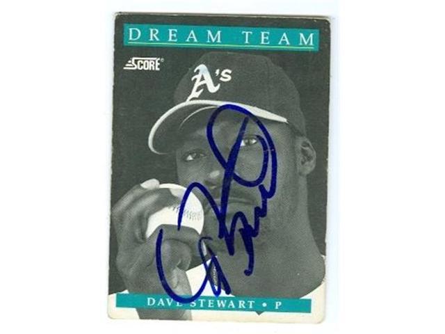 Autograph 121238 Oakland Athletics 1991 Score No 883 Dream Team Poor Condition Dave Stewart Autographed Baseball Card Neweggcom
