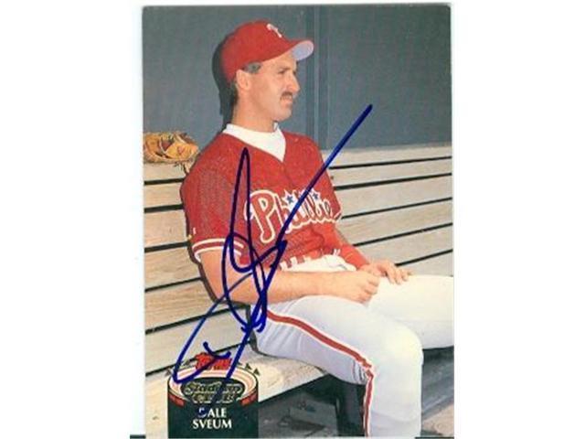 Autograph 223017 Philadelphia Phillies 1992 Topps Stadium Club No 687 Dale Sveum Autographed Baseball Card Neweggcom
