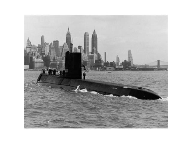 Superstock SAL25525352 Submarine in The Sea Uss Nautilus, Ssn-571  Nuclear-Powered Submarine New York City New York State USA Poster Print, 18  x 24 -