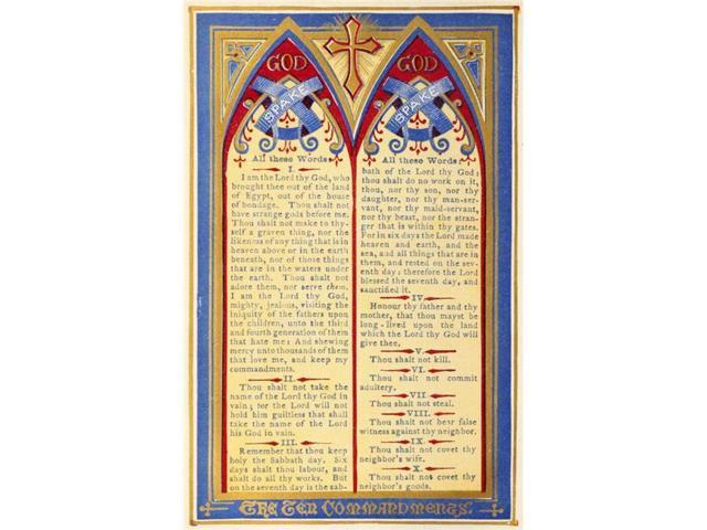 photograph relating to How It Works Aa Printable named Printable Heaven PPHPDP87872Significant The Most important of Heaven 1874 The 10 Commandments Poster Print through Thomas Kelly, 24 x 36 - Weighty -