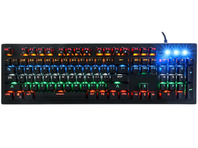 9e7948cf9e3 CK Mechanical Keyboard 104-Metal Keys Programmable Mechanical Gaming  Keyboard wired LED Marquee Featured Backlit
