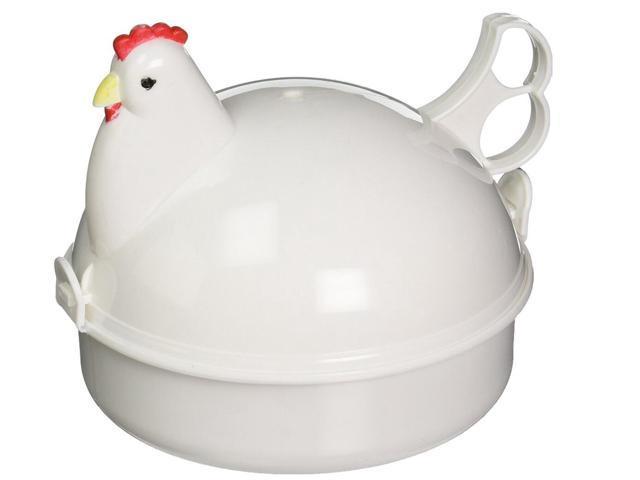 Chicken Microwave Egg Cooker Poacher Boiler Boil Steamer Kitchen Tool 4 Eggs