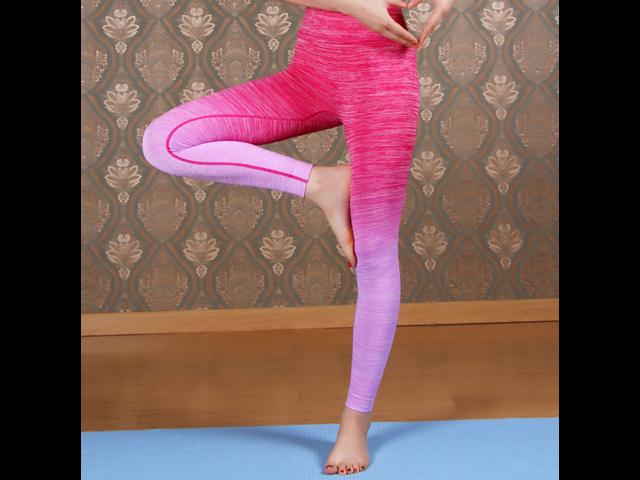 2a781c9c58b35 Women's Sexy Yoga Running Pants High Waist Trousers Leggings Fitness ...