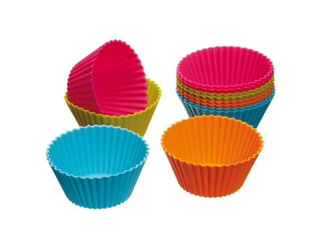 Silicone Cupcake Muffin Baking Cups Liners Non-Stick Cake Molds Sets 6pcs US