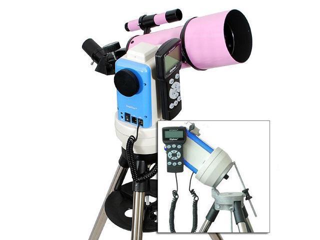 Pink 80mm gps computerized eq go to telescope w auto star finder