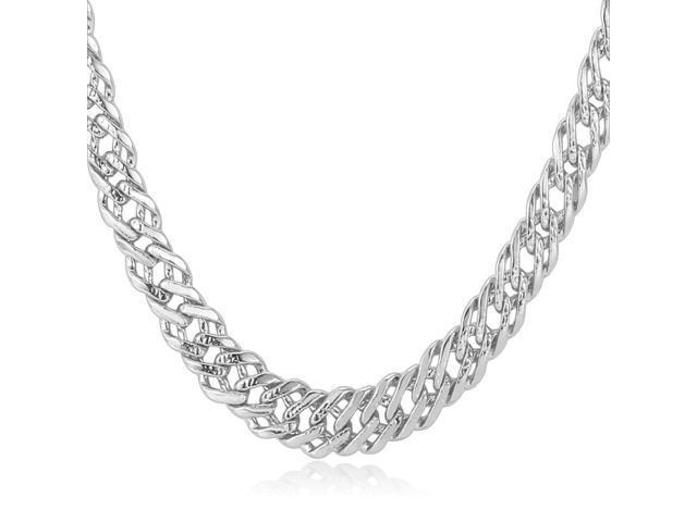 u7 hot sale venetian chain necklace platinum  gold   rose gold  black gun plated 3 size optional