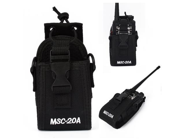 MSC-20D For Baofeng Motorola Kenwood Radio Portable Nylon Pouch Holster Bag Case
