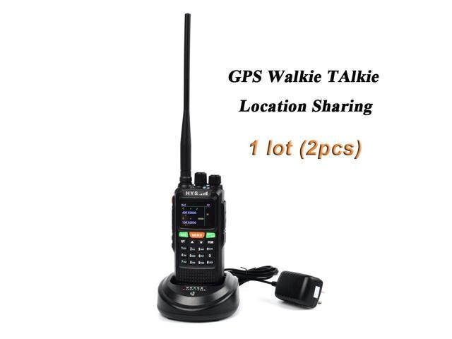 HYS 10W GPS Handheld Ham Radio 136-174Mhz&400-520 Mhz Long Distance Walkie  Talkie 7 4V 4500Mah Transceiver - Newegg com