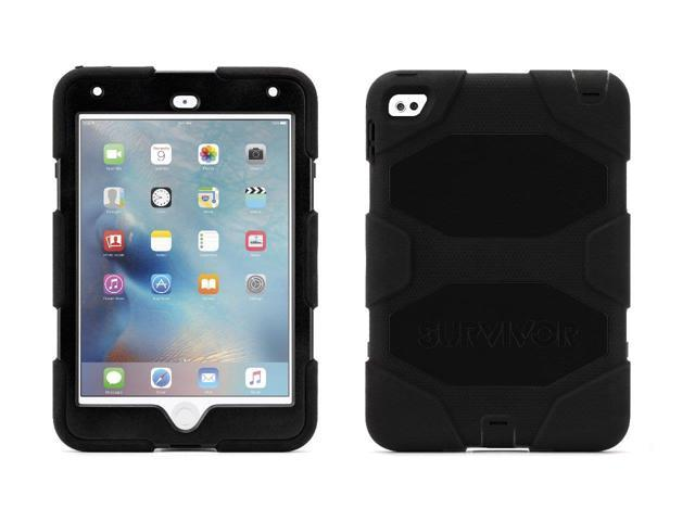 best authentic 8a5bc 34e5a Griffin, iPad mini 4 Case with Stand, Black Survivor All-Terrain, [Rugged]  [Protective] [Dual Layer] [Heavy Duty] [Shock Absorption] [Polycarbonate]  ...