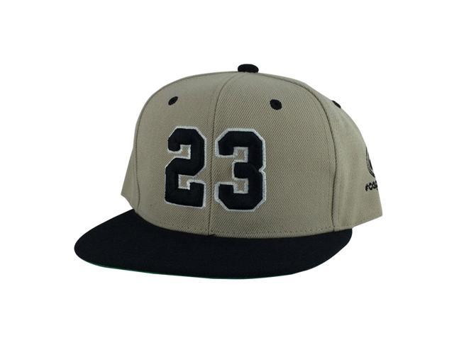 Player Jersey Number  23 2Tone Snapback Hat Cap x Air Jordan - Light Brown  Black dce5ba6b916a