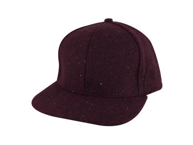 Stylish Flat Brim Wool Confetti Sparkle Adjustable Snapback Hat Cap by  CapRobot - Burgundy da120ff8e7d7