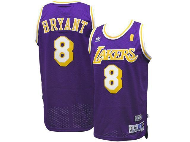 reputable site 36720 6b0cc Adidas Los Angeles LA Lakers Kobe Bryant #8 Purple Road Adult Swingman  Jersey - Large - Newegg.com