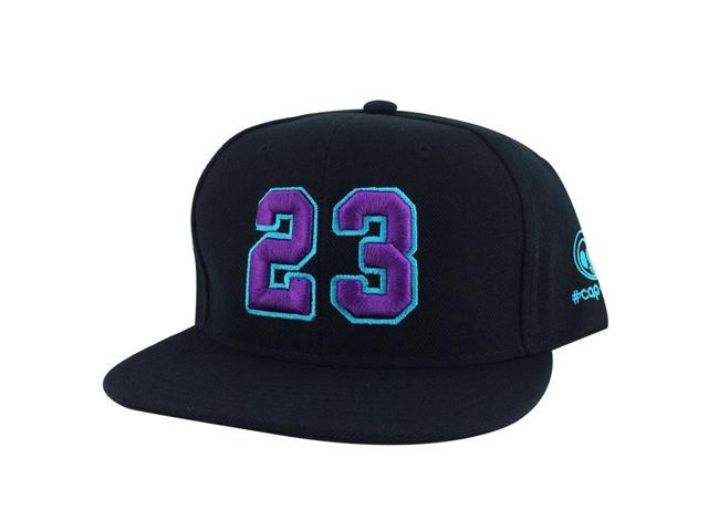 76a24aeee6e64b Player Jersey Number  23 Snapback Hat Cap x Air Jordan   Lebron - Black  Purple