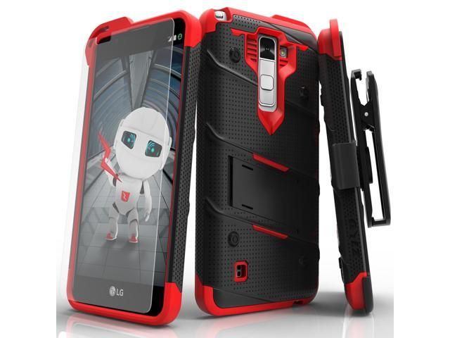 LG Stylo 2 Case, Zizo [Bolt Series] with FREE [LG Stylo 2 Screen Protector]  Kickstand [Military Grade Drop Tested] Holster Belt Clip- LG Stylo 2 LS775