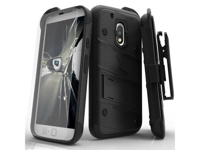 buy popular a2890 8ced6 Motorola G4 Play Case, Zizo [Bolt Series] w/ FREE [Motorola G4 Play Screen  Protector] Kickstand [Military Grade Drop Tested] Holster Clip - G4 Play -  ...