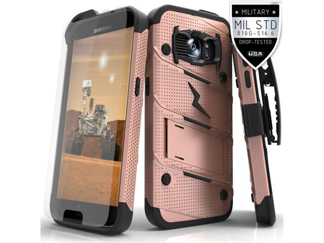 best website de98c b1696 Samsung Galaxy S7 Case, Zizo [Bolt Series] w/ FREE [Galaxy S7 Screen  Protector] Kickstand [Military Grade Drop Tested] Holster Clip - Galaxy S7  G930 - ...