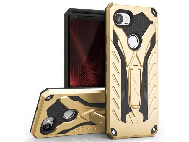 buy popular f7b4a e5ed3 Zizo STATIC Series Google Pixel 2 XL Case - Impact Resistant, Military  Grade 810.1-G with Built In Kickstand(Gold/Black) - Newegg.com