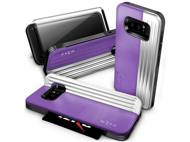 the latest 6bad2 4b3f8 Zizo RETRO Series compatible with Samsung Galaxy Note 8 Case Military Grade  Drop Tested with Tempered Glass Screen Protector PURPLE SILVER - ...