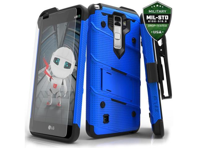 buy online bcc59 f9bb5 LG Stylo 2 Plus Case, Zizo [Bolt Series] w/ FREE [Stylo 2 Plus Screen  Protector] Kickstand [Military Grade Drop Tested] Holster Clip - LG Stylo 2  Plus ...