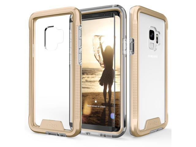 competitive price 4d686 f612e Zizo ION Series compatible with Samsung Galaxy S9 Case Military Grade Drop  Tested with Tempered Glass Screen Protector GOLD CLEAR - Newegg.com