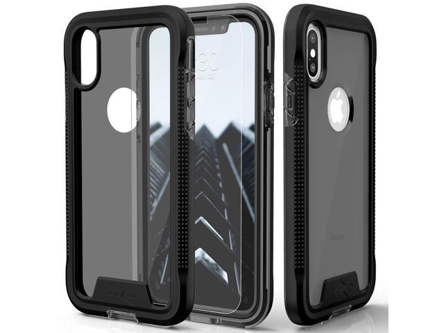 7651ca5c0479 Zizo ION Series compatible with iPhone Xs Max case Military Grade Drop  Tested with Tempered Glass Screen Protector (Black & Smoke)