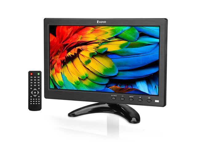 "eyoyo 10"" inch small tv monitor hdmi portable kitchen tv"