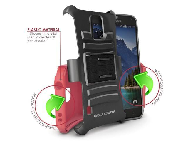 on sale 421c2 92caa Galaxy S5 Active Case, BUDDIBOX [HSeries] Heavy Duty Swivel Belt Clip  Holster with Kickstand Maximal Protection Case for Samsung Galaxy S5  Active, ...