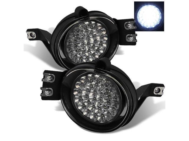 for 2002-2009 dodge ram pickup truck hyper white full led fog lights lamp w