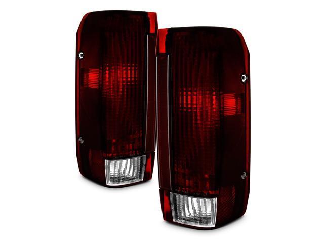 For Dodge Dakota Dark Red Rear Tail Lights Brake Lamps Driver Left Passenger Right Replacement Pair
