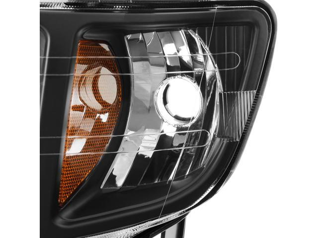 For Honda Ridgeline OE Replacement Black Bezel Headlights Driver//Passenger Head Lamps Pair New