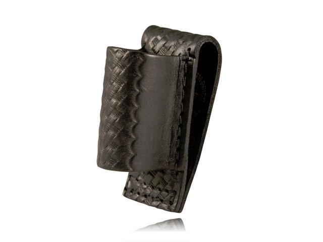 Boston Leather 5556-1 Plain Black Loop Style Mini Mag Lite Flashlight Holder