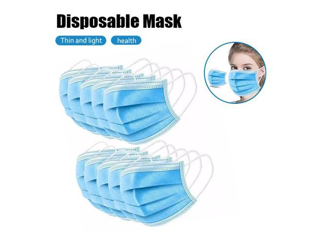 50 PCS Disposable 3-Ply Polypropylene Face Masks for Gem Protection Personal Protection Earloop Mask