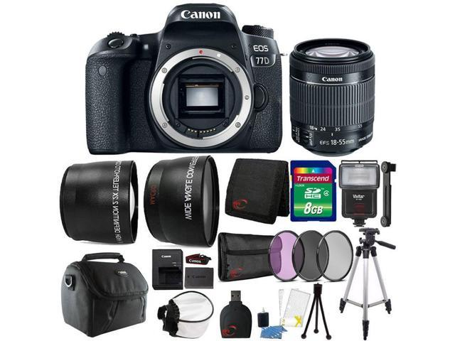 Canon EOS 77D 24.2 MP DSLR Camera with EF-S 18-55mm IS STM Lens and Ultimate Accessory Kit