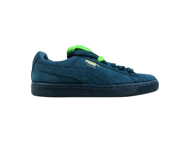 uk availability e8169 604cd Puma Suede Classic + Mono Iced Blue Coral/Team Gold 360231 01 Men's Size  6.5 - Newegg.com
