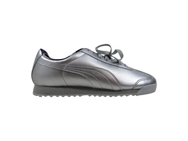 Puma Roma Metallic Puma SilverGlacier Gray 360977 02 Women's Size 10