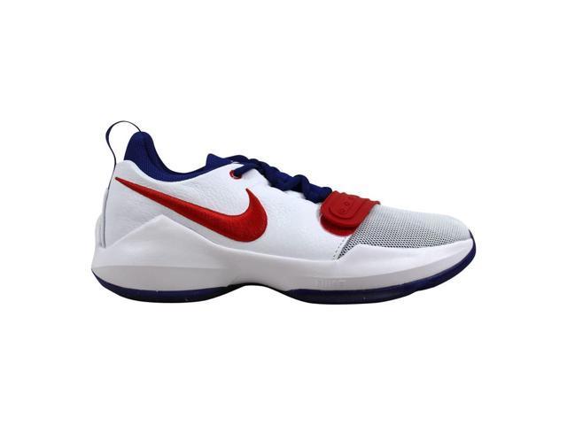 pretty nice 8f53a 4809e Nike PG 1 White/University Red Paul George Grade-School 880304-164 Size 7  Medium - Newegg.com