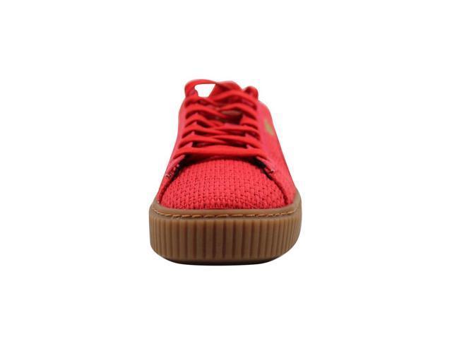 Puma Basket Platform Woven High Risk RedGold 364847 01 Women's Size 7