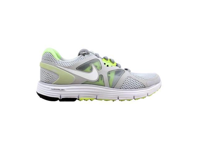 photos officielles ea1a2 ef78b Nike Lunarglide + 3 Breathe Pure Platinum/White-Wolf Grey-Liquid Lime  510802-010 Women's Size 5.5 - Newegg.com