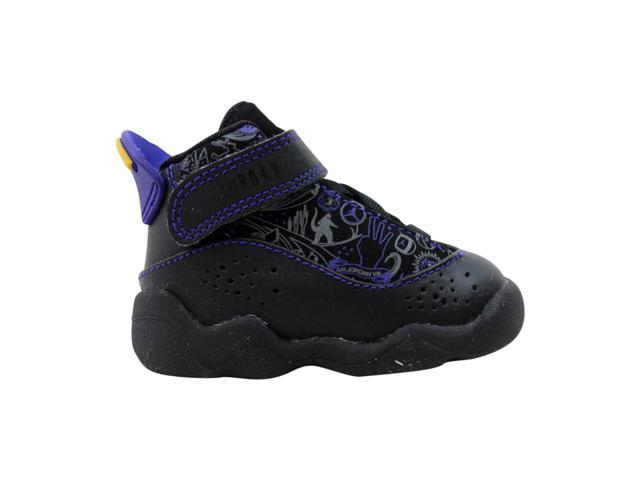 sports shoes aaae0 d440f Nike Air Jordan 6 Rings Black/Varsity Red-Dark Concord-Classic 323420-061  Toddler Size 2.5C - Newegg.com