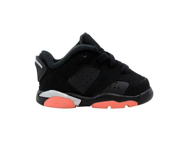 best sneakers 28fe3 146c9 Nike Air Jordan 6 Retro Low Black/Sunblush-Metallic Silver 768885-022  Toddler Size 2C - Newegg.com
