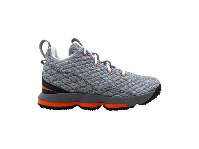 reputable site 56e7f 78a42 Nike Lebron 15 XV Black/Saftey Orange-Dark Grey 922812-080 Pre-School Size  2Y - Newegg.com