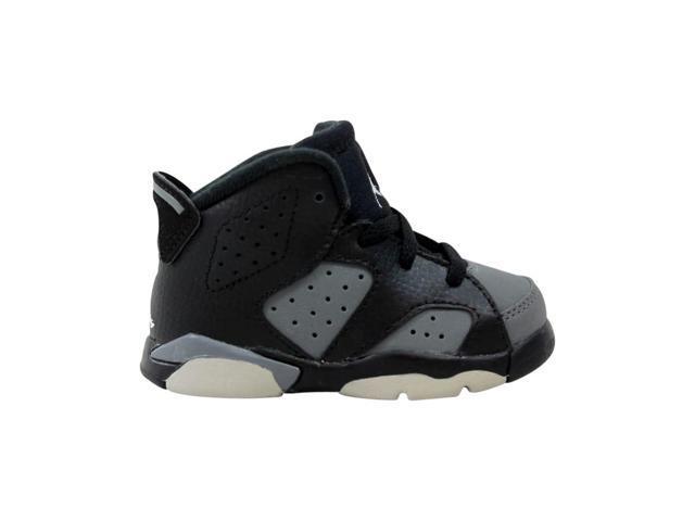 Nike Air Jordan VI 6 Retro BT Black//White-Cool Grey 384667-010 Toddler Size 5C