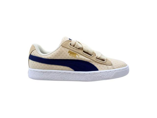 brand new d117a 312b1 Puma Basket Heart Denim Oatmeal-Twilight Blue 363371 03 Women's Size 6.5 -  Newegg.com