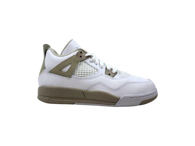 buy online 37e66 74040 Nike Air Jordan IV 4 Retro GP White/Boarder Blue-Light Sand 487725-118  Pre-School Size 2.5Y - Newegg.com
